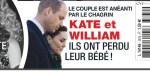 Kate Middleton, William, ont perdu leur bébé,  ils sont anéantis par le chagrin