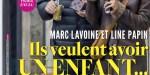 Marc Lavoine et Line Papin, un bébé pour bientôt, ça se précise