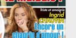 Ingrid Chauvin, triste et amaigrie, encore un chagrin d'amour