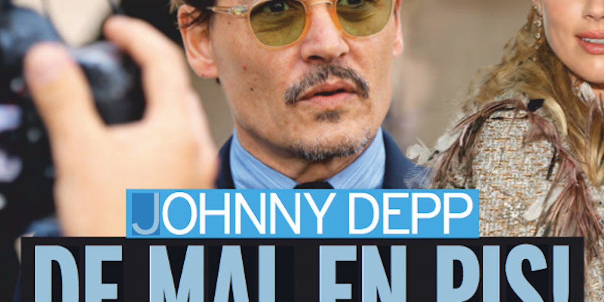 Johnny Depp au fond du seau