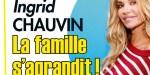 Ingrid Chauvin, la famille s'agrandit, une réjouissante nouvelle