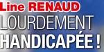 Line Renaud, lourdement handicapée, des séquelles de son AVC