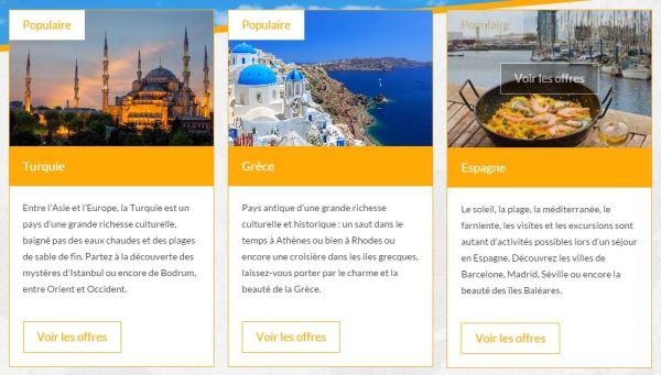 Vacances Info - destinations populaires