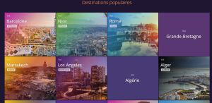 Momondo - Destinations populaires