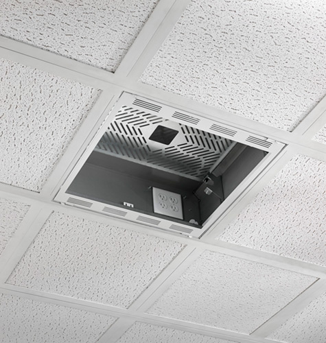 above suspended ceiling storage box