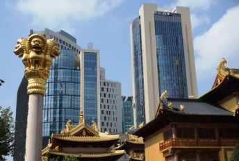 Vue extérieure du temple de Jing'an