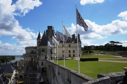 Vue extérieure du château d'Amboire