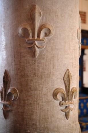 Détail d'une colonne dans le château