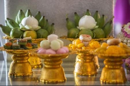 Offrandes destinées à la famille de la mariée