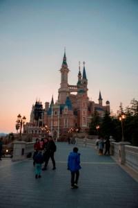 Le château, tombée de la nuit