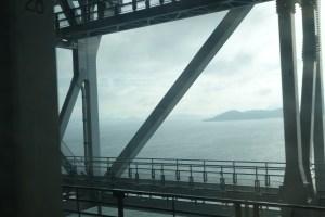 Depuis le train à travers les îles de la mer intérieure du Japon