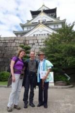 Iwai-san and us at Osaka Castle