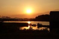 Sunset over salt fields #1