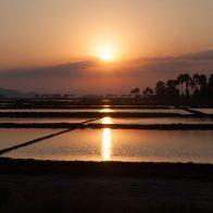 Sunset over salt fields #2