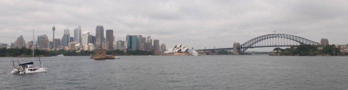 Premières visions du port de Sydney
