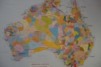 Carte des peuples aborigènes - Map of the aboriginal people