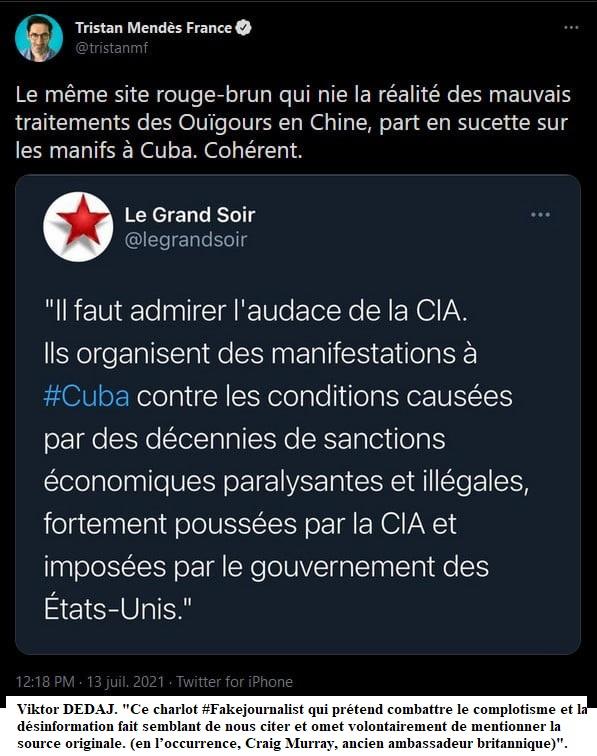 La hargne obsessionnelle, pro-israélienne et pro-étatsunienne de Tristan Mendès France -- Maxime VIVAS