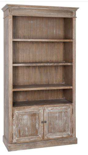 meuble bibliotheque bois ceruse avec