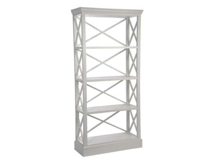 etagere bois blanc croix