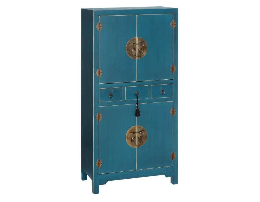 Armoire Bleue Style Chinois Pour Une Chambre