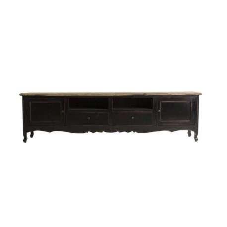 meuble tv baroque noir de 210 cm
