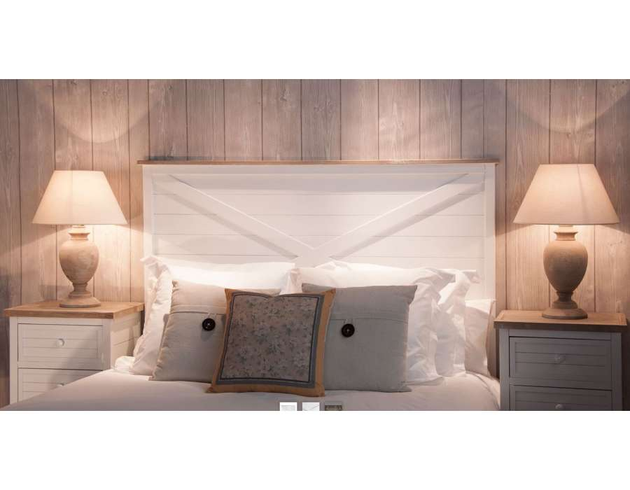 tete de lit blanche 160 cm