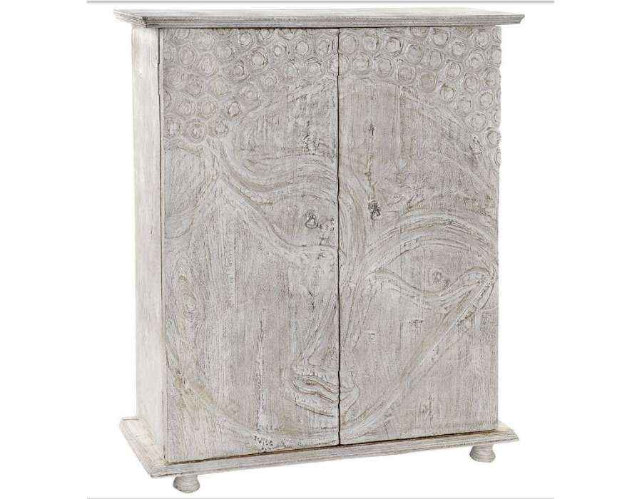 armoire basse indienne bouddha