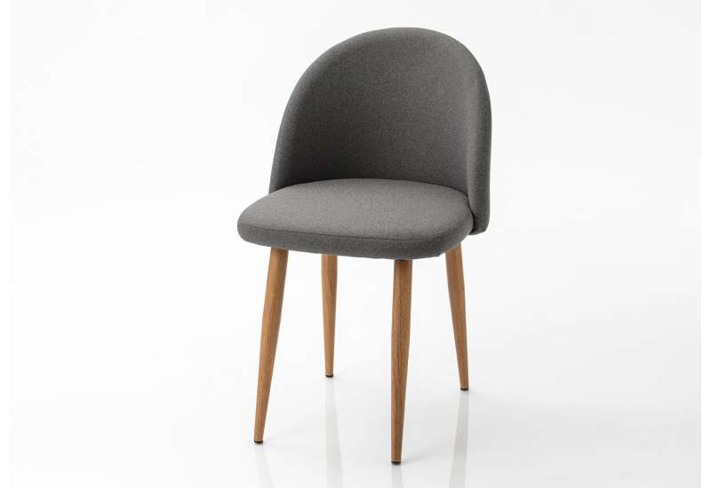 chaise tissu gris fonce amadeus