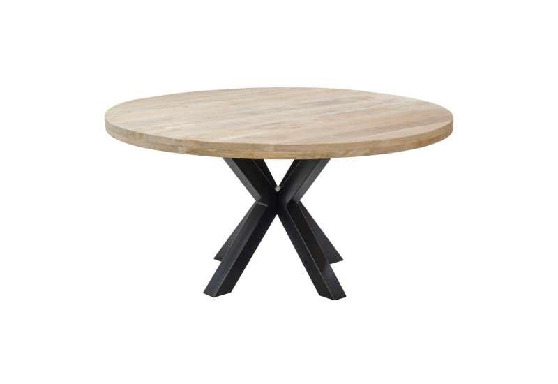 table a manger ronde 8 personnes en bois de manguier
