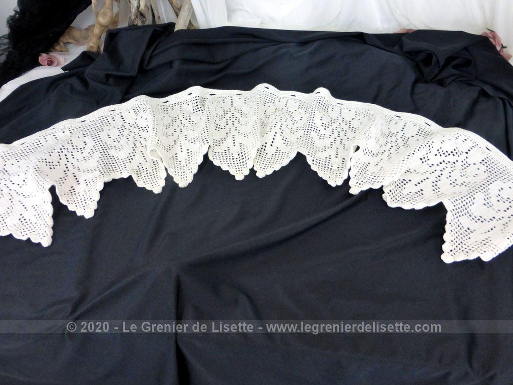 ancien rideau brise bise fait main