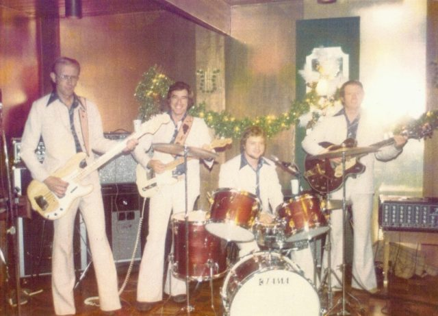 "Left to right: Ken Greenwood, Warren Fitzgerald, Butch Scott and Marlin Barnes play together as ""The Sundowners."""