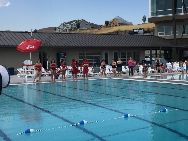 "Lifeguards overseeing the ""Jump in for Jude"" event. Photo courtesy of Alan Knight"