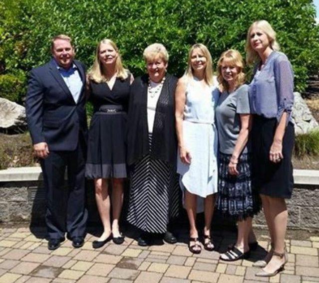 Mary Ann Judd Johnson with her children.