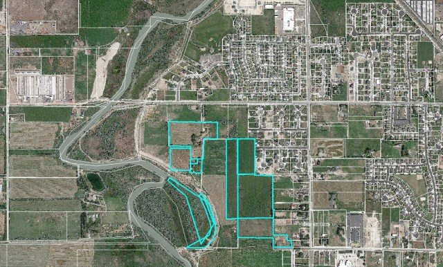 Aerial view of proposed Colledge Farms location in West Lehi. Courtesy of Lehi City