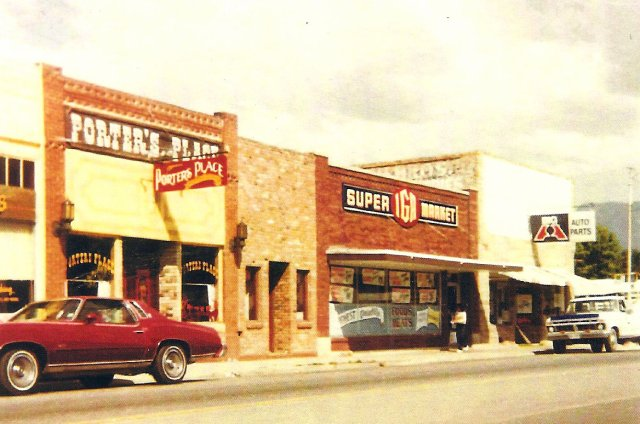 The IGA grocery store on Main Street that Rex co-owned with Boyd Stewart.