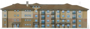 An artist's rendering of the proposed senior housing project.