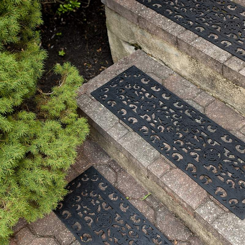 Fleur De Lis Recycled Rubber Stair Treads Lehman S | Rubber Treads For Outdoor Steps | Non Slip | Diamond Plate | Rubber Cal | Recycled Rubber | Rubber Matting