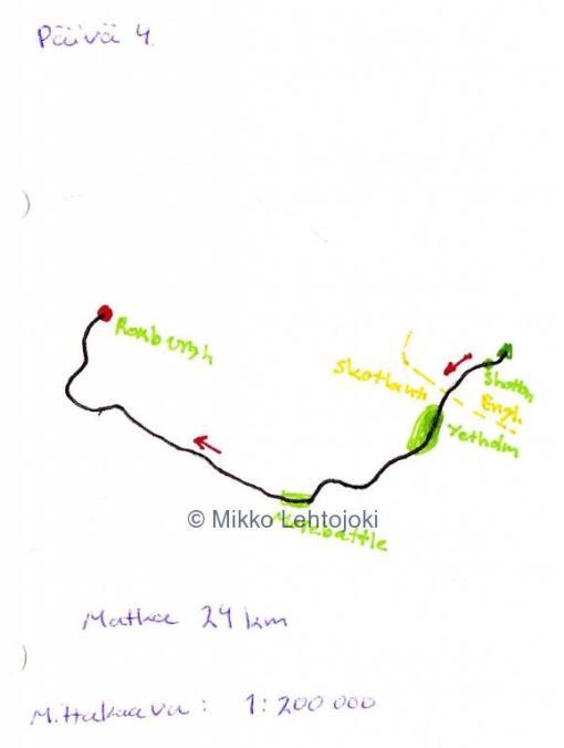 vaelluspäivä 4 kartta