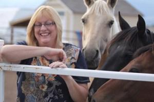 Photo-bombed by the horses.
