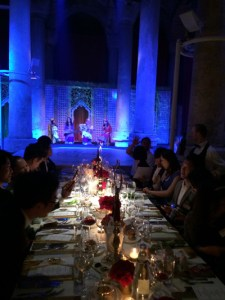 Private function dinner at the Basilica Cistern in Istanbul, Turkey.