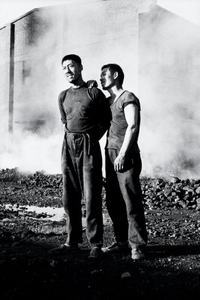 Two workers at a state coal plant. Datong. Shanxi. China. 06/1997