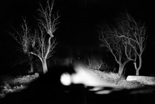 Driving at night through the Badland's dead trees, always makes you feel like you're living in a post apocalyptic era