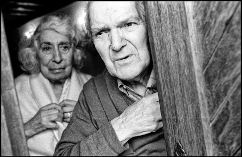 April 2002. My parents at the door to their house.