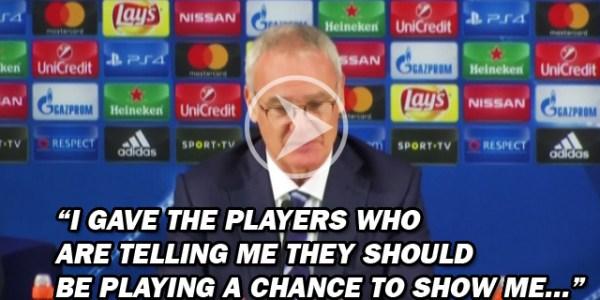 Fringe Players Miss Chance To Impress Ranieri