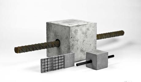 Demonstratoren, Vergleich Stahl-und Carbonstab sowie Textilbeton. (Quelle: C3)