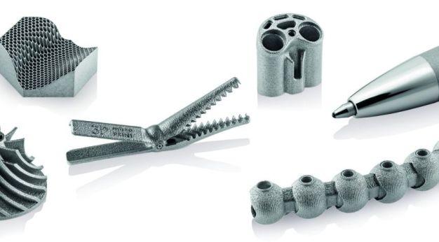 Durch den Einsatz der Mikro Laser Sinter Technologie gefertigte ochpräzise Mikrobauteile aus Metall im μm-Bereich. (Quelle: 3D Micro Print)