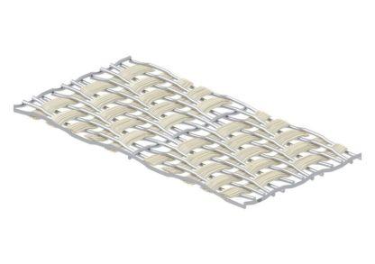 Die Ausrichtung und Verwebung der Materialien ist auf den individuellen Einsatz angepasst. (Quelle: GKD)