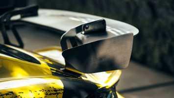 Heckflügel, Fahrer- und Beifahrertür des Cayman GT4 Clubsport sind aus biobasierten Verbundwerkstoffen (Quelle: Porsche)