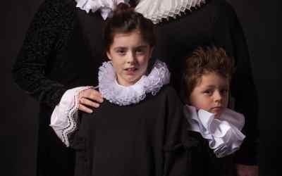 Op de foto in het licht van Rembrandt