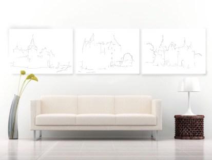 serie-drie-kastelen-aan-muur